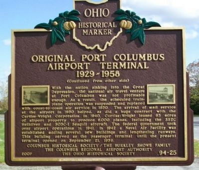 Original Port Columbus Airport Terminal Marker image. Click for full size.