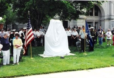 Whitley County Korean War Memorial - preunveiling image. Click for full size.