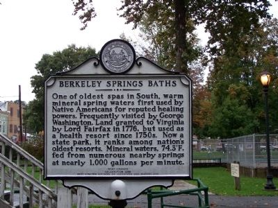 Berkeley Springs Baths Marker image. Click for full size.
