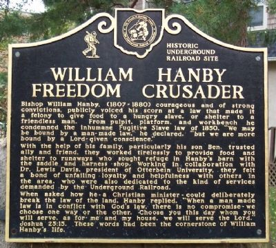 William Hanby, Freedom Crusader Marker Photo, Click for full size