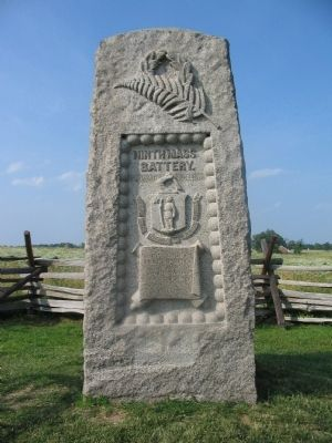 Ninth Massachusetts Battery Monument image. Click for full size.