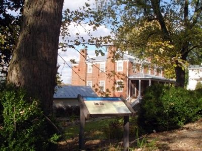 Marker with Ruffner House in Background image. Click for full size.