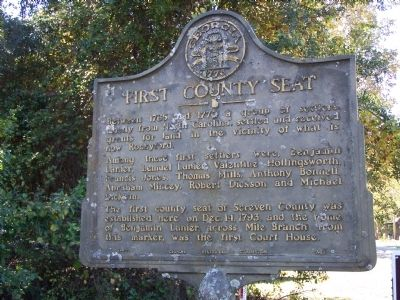 First County Seat Marker image. Click for full size.
