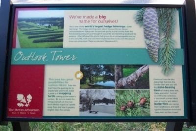 Dawes Arboretum Hedge Tower Sign image. Click for full size.
