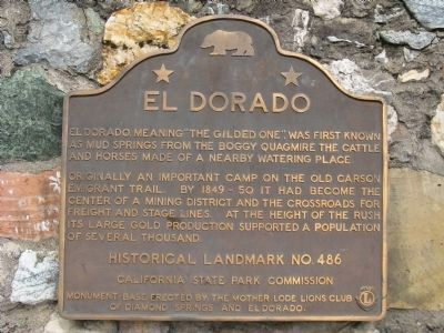 El Dorado Marker Photo, Click for full size