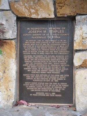 In Respectful Memory of Joseph M. Staples Marker image. Click for full size.