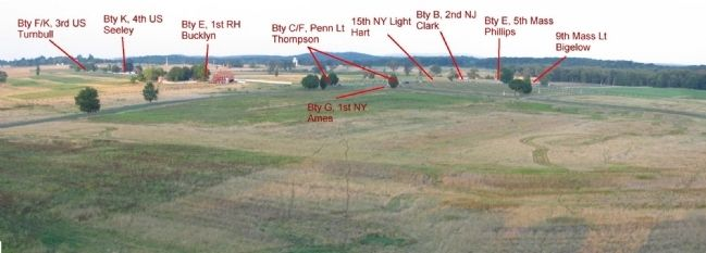 Peach Orchard Salient Artillery Positions image. Click for full size.