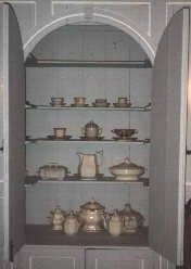 Hanover House - China Cabinet Built into Wall image. Click for full size.