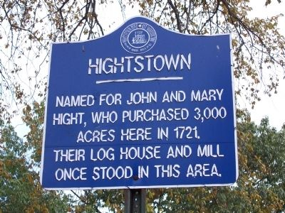 Hightstown Marker image. Click for full size.