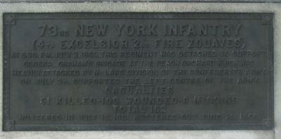 73rd Regiment Plaque Photo, Click for full size