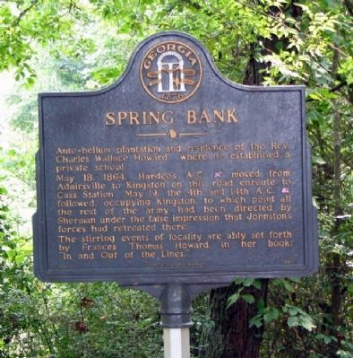 Spring Bank Marker image. Click for full size.