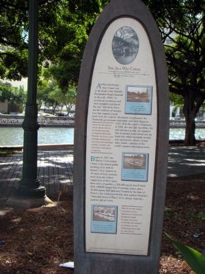The Ala Wai Canal Marker image. Click for full size.