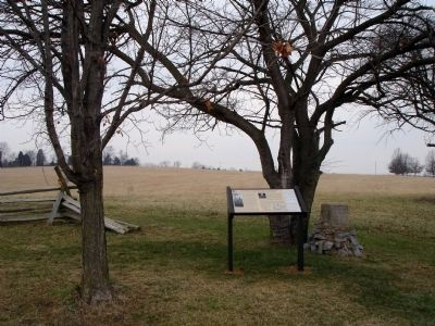 Marker next to Woodson's Missouri Cavalry Monument image. Click for full size.