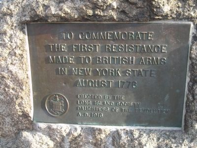 First Resistance to British Arms in NY Marker image. Click for full size.