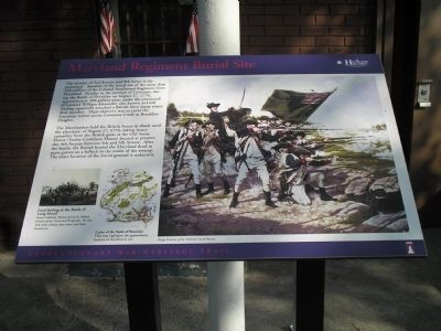 Maryland Regiment Burial Site Marker Photo, Click for full size