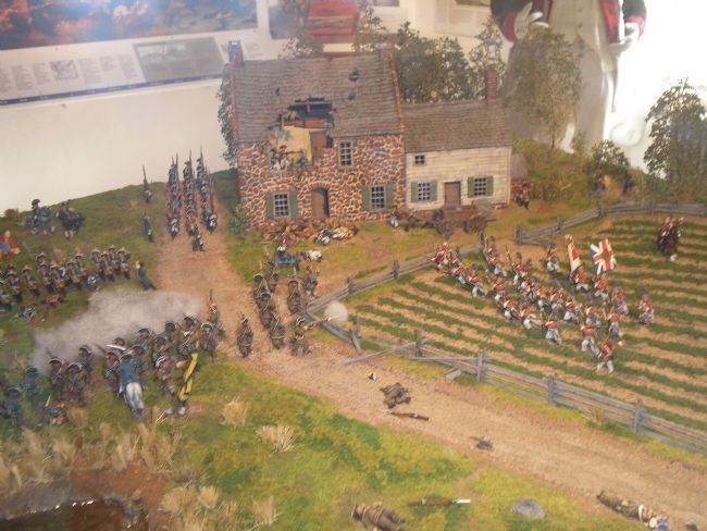 Diorama of Fighting at Old Stone House image. Click for full size.
