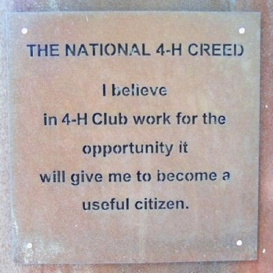 The National 4-H Creed image. Click for full size.