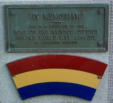 166th Infantry 42nd Division World War Memorial image. Click for full size.