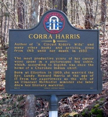 Corra Harris Marker image. Click for full size.