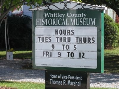 Home of Thomas R. Marshall - Now :: Whitley County Museum image. Click for full size.