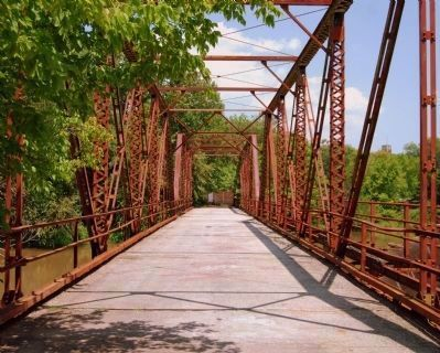 Iron Bridge Spanning Lawson's Fork Creek Photo, Click for full size
