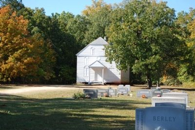 The White Church and Cemetery Photo, Click for full size