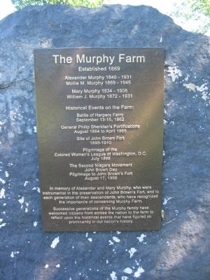 The Murphy Farm Marker image. Click for full size.