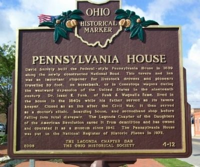 Pennsylvania House Marker (side A) image. Click for full size.