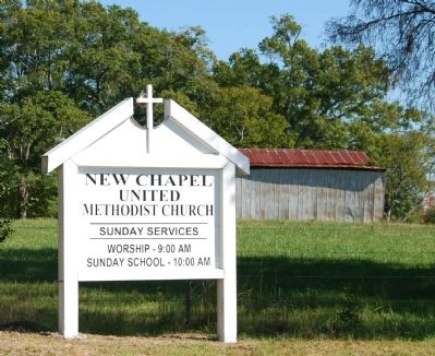 New Chapel United Methodist Church Sign image. Click for full size.