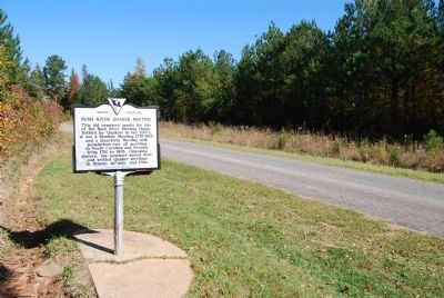 North View of Dennis dairy Road and Bush River Quaker Meeting Marker image. Click for full size.