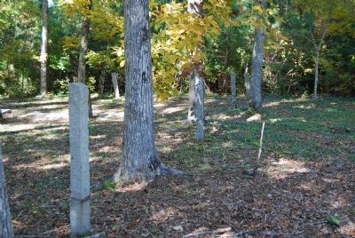 Stone Fence Posts Provide an Outline of the Old Cemetery Boundary Photo, Click for full size