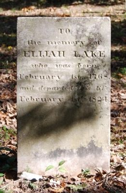 Elijah Lake Tombstone image. Click for full size.