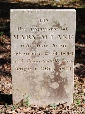 Mary M. Lake Tombstone image. Click for full size.