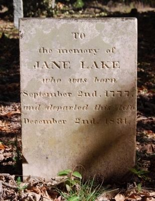 Jane Lake Tombstone Photo, Click for full size