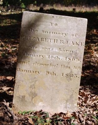Elizabeth Lake Tombstone image. Click for full size.