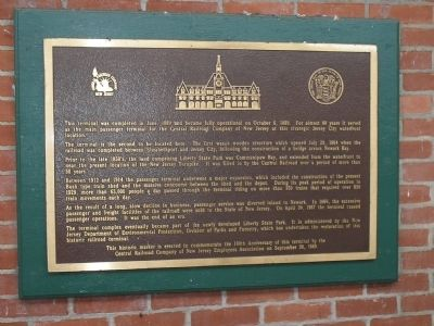 The Central Railroad of New Jersey Terminal Marker Photo, Click for full size