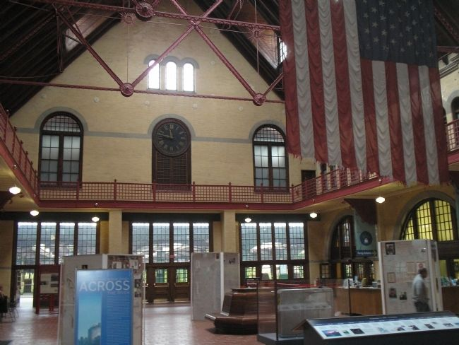 Inside the Central Railroad of New Jersey Terminal image. Click for full size.