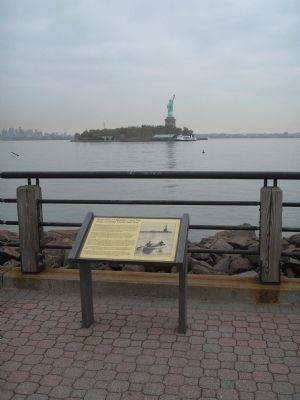 Marker in Liberty State Park Photo, Click for full size