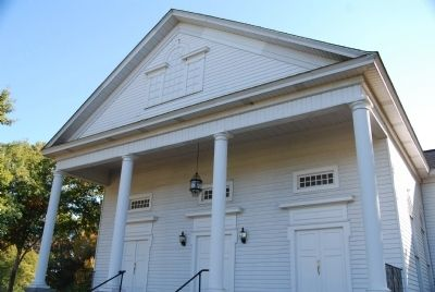 Bush River Baptist Church - Front Entrance Detail Photo, Click for full size