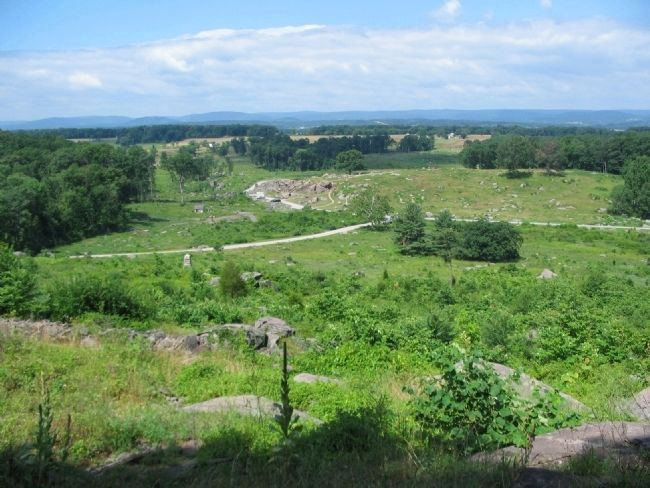 View from Little Round Top image. Click for full size.