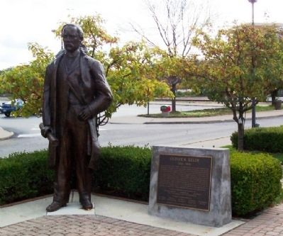 Oliver S. Kelly Statue and Marker image. Click for full size.