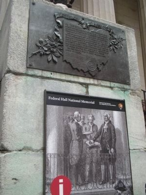 Markers at Federal Hall National Memorial image. Click for full size.