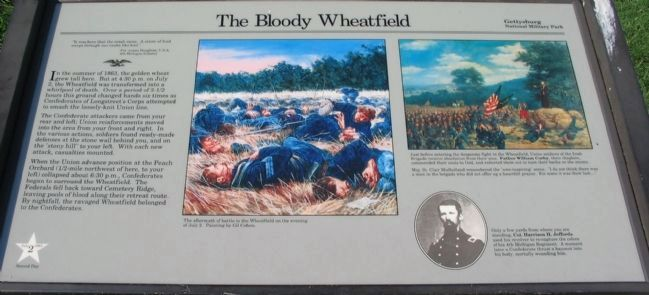 The Bloody Wheatfield Marker image. Click for full size.