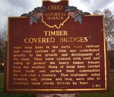 Timber Covered Bridges Marker (side B) image. Click for full size.