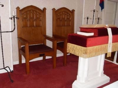 Inside Jacksonport United Methodist Church - the Pulpit Photo, Click for full size