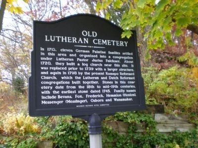 Old Lutheran Cemetery Marker image. Click for full size.