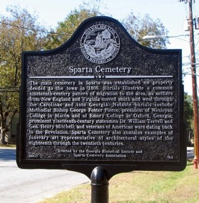 Sparta Cemetery Marker image. Click for full size.