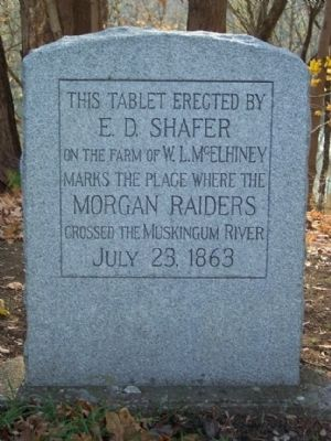 Morgan Raiders Ford Marker image. Click for full size.