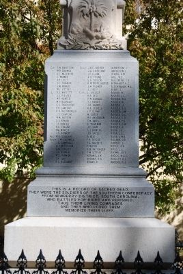 Newberry County Confederate Monument Marker - Southwest Side image. Click for full size.
