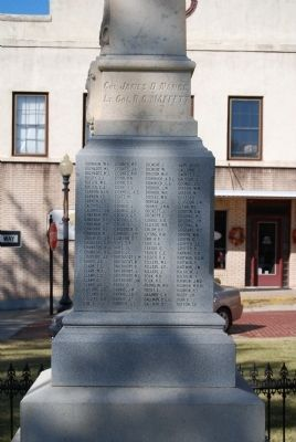 Newberry County Confederate Monument Marker - Southeast Side image. Click for full size.